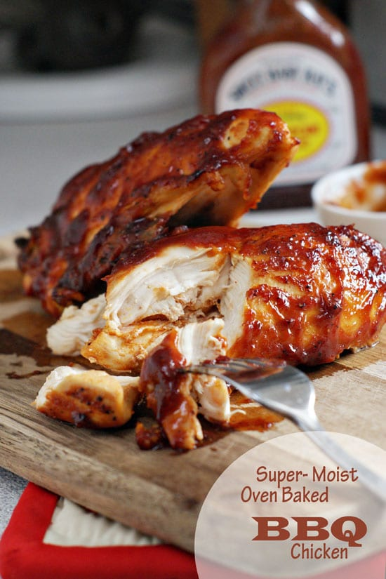Super Moist Oven Baked BBQ Chicken | heatherlikesfood.com